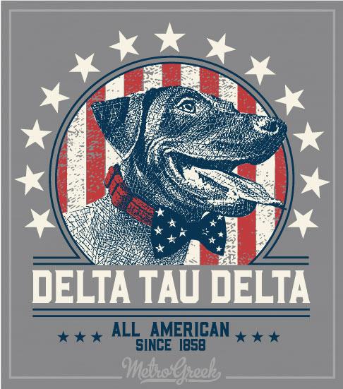 Delta Tau Delta Rush Shirt Lab and Flag