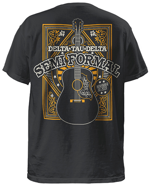 Delta Tau Delta Formal T-shirt With Guitar