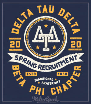 Delta Tau Delta Recruitment Shirt Retro