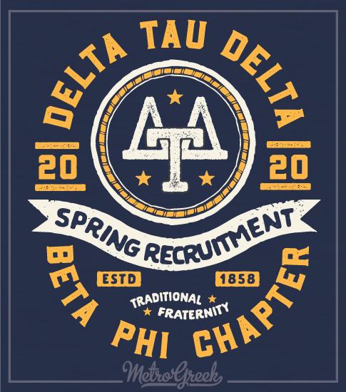 Delta Tau Delta Recruitment Shirt Retro