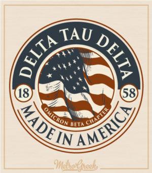 Delta Tau Delta Rush Shirt American Flag