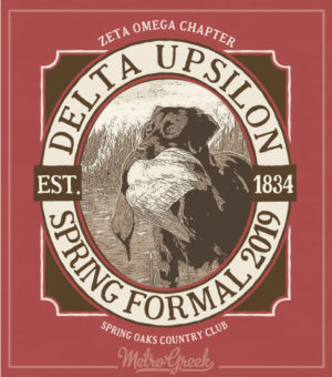 Delta Upsilon Formal Shirt Hunting Dog