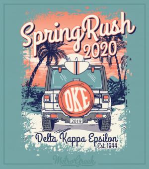 Delta Kappa Epsilon Spring Rush Beach Shirt