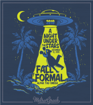 Fall Formal Shirt With UFO Tractor Beam