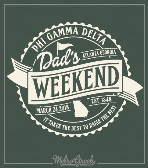 Fiji Dads Weekend Shirt Golf Logo