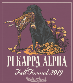 Fraternity Formal Shirt Pike and Lab Retriever