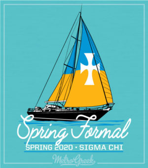 Fraternity Formal Shirt With Sailboat