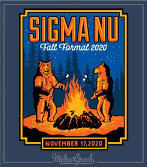 Fraternity Formal Shirt Sigma Nu Bears