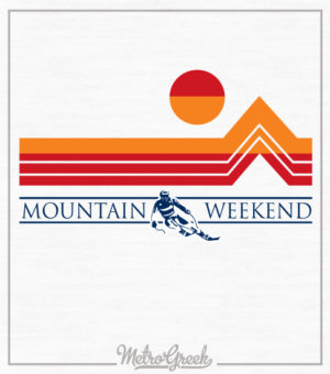 Fraternity Mountain Weekend Shirt Skiier
