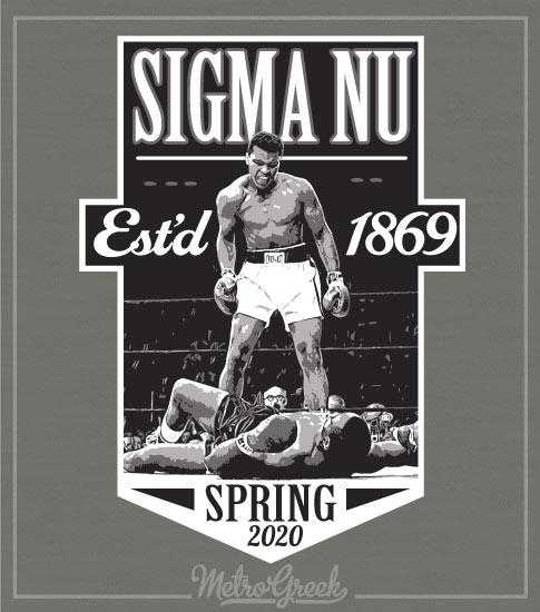 Sigma Nu Rush Shirt Ali Boxing