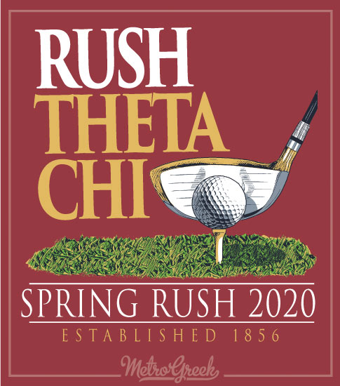 Fraternity Rush Shirt Golf Club and Ball