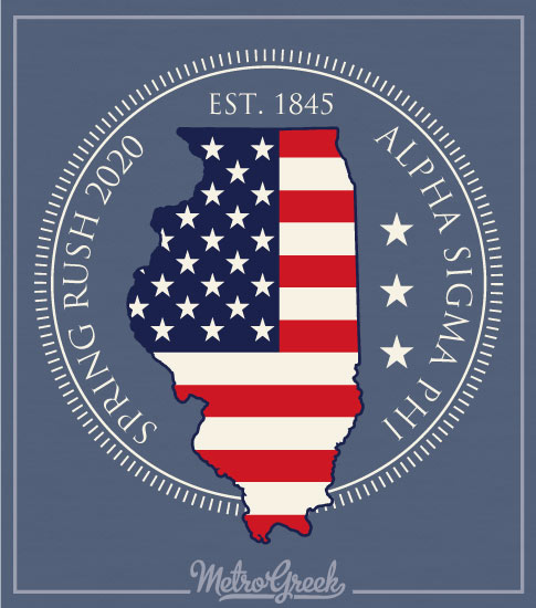 Fraternity Rush Shirt State of Illinois