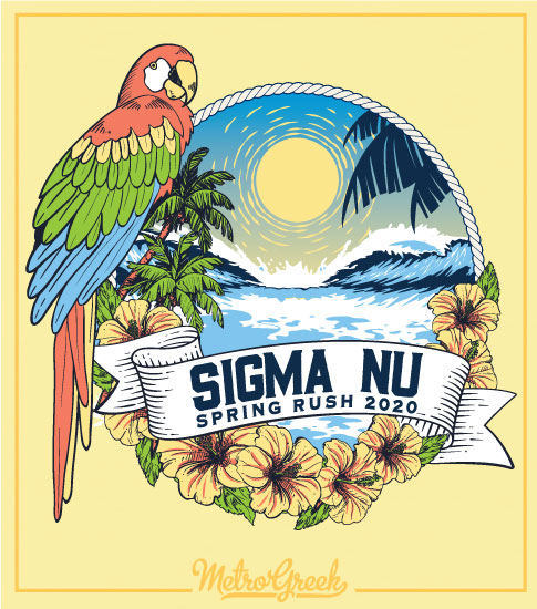 Fraternity Formal Shirts Sigma Nu Parrot