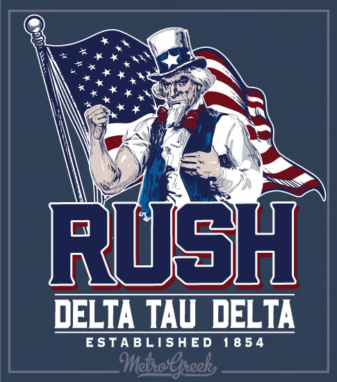 Fraternity Rush Shirt Uncle Sam and Flag