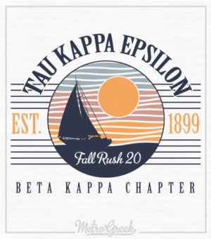 TKE Rush Shirt Retro Sailboat