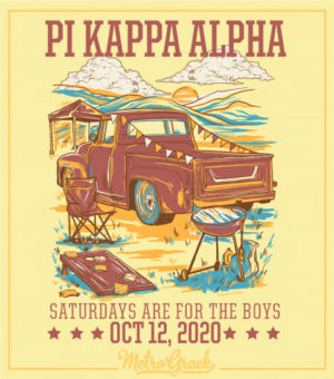 Fraternity Tailgate Shirt Pick Up Truck