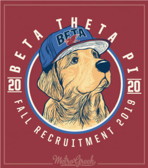 Fraternity Rush Shirt Beta Golden Retriever