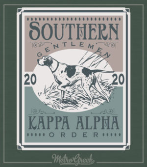 Kappa Alpha Order Rush Shirt Hunting Dog