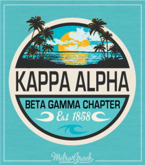 Kappa Alpha Rush Shirt Beach Sunset
