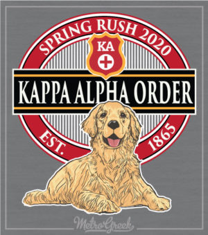 Kappa Alpha Order Rush Shirt Golden