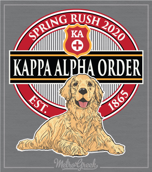 Kappa Alpha Order Rush Shirt Golden