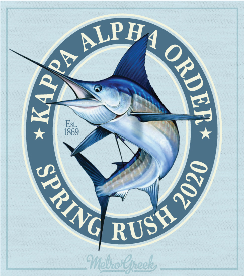 Kappa Alpha Fraternity Rush Shirt Marlin