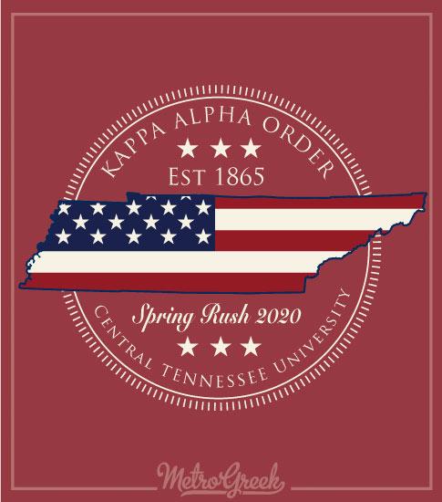 Kappa Alpha Rush Shirt Patriotic State