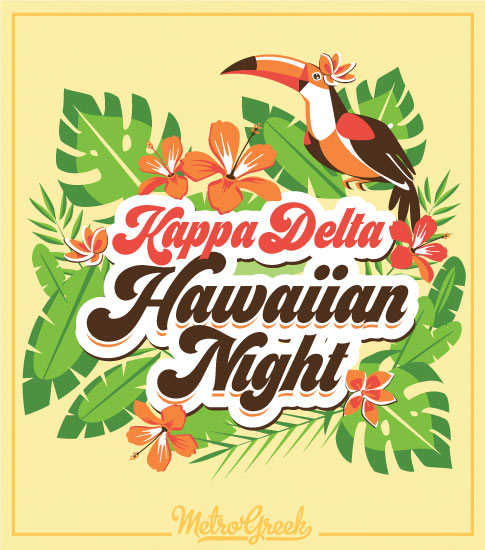 Kappa Delta Hawaiian Night Luau Shirt