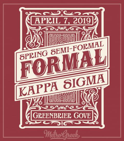 Kappa Sigma Formal Shirt Block Border
