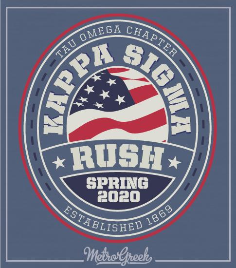Kappa Sigma Rush Shirt American Elipse