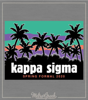 Kappa Sigma Rush Shirt Palm Trees