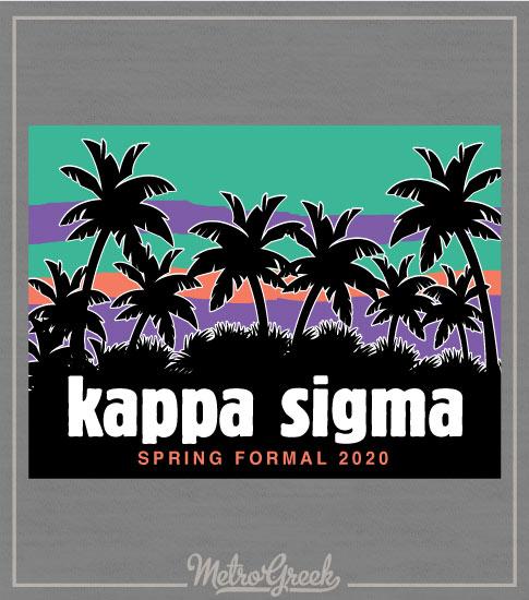 Kappa Sigma Rush Shirt Palm Trees