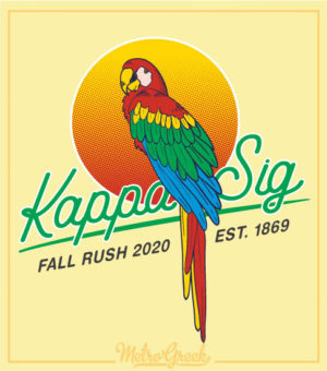 Fraternity Rush Shirt Parrot