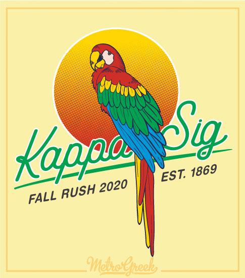 Fraternity Rush Shirt Parrot