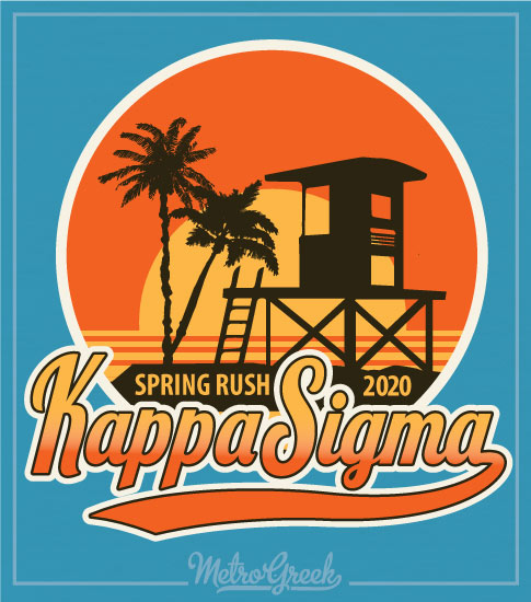 Kappa Sigma Rush Shirt Retro Beach