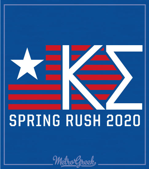 Kappa Sigma Rush Shirt Stars Stripes