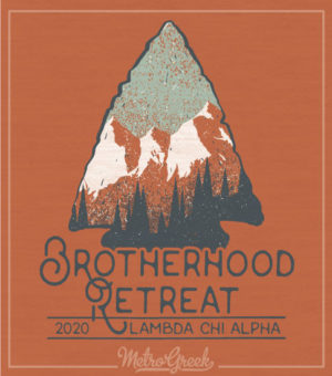 Lambda Chi Brotherhood Retreat Shirt Arrow