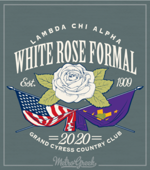 Lambda Chi Fraternity Formal Shirt Flags