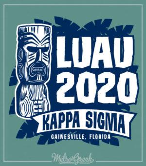 Kappa Sig Blue Tiki Luau T-shirt