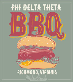 Phi Delt Barbecue Hamburger Shirt