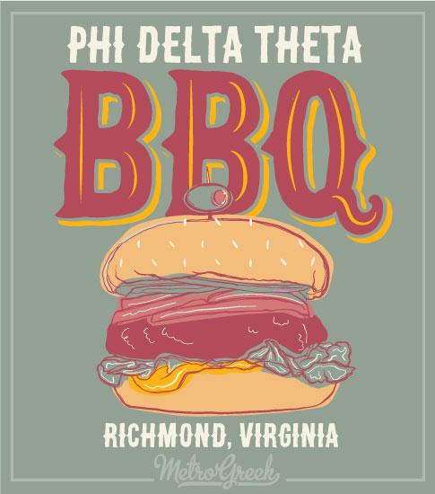 Phi Delt Barbecue Hamburger Shirt