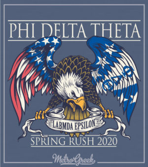 Phi Delta Eagle Rush Shirt Flags