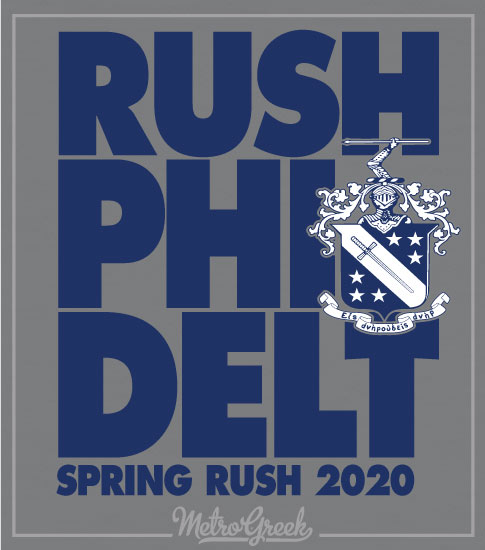 Phi Delt Fraternity Rush ShirtBig Letters
