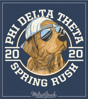 Phi Delt Rush Shirt Golden Retriever