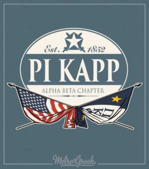 Pi Kappa Phi Fraternity Rush Shirt Flags