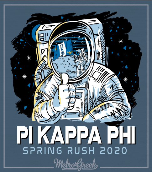 Pi Kapp Rush Shirt Astronaut and Flag