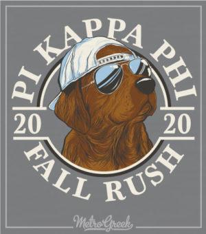 Pi Kappa Phi Rush Shirt Chocolate Lab