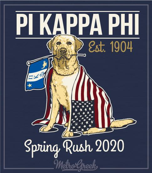 Pi Kapp Rush Shirt Golden Retriever