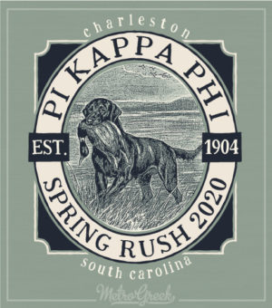 Pi Kapp Rush Shirt Hunting Dog