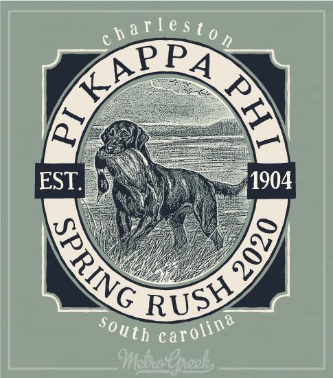 Pi Kapp Rush Shirt Hunting Dog